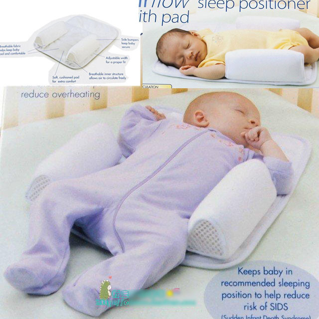 Hot Sale Baby Safe Comfortable Sleeping Pad Pillow Crib Bed Shape Anti Stand Up