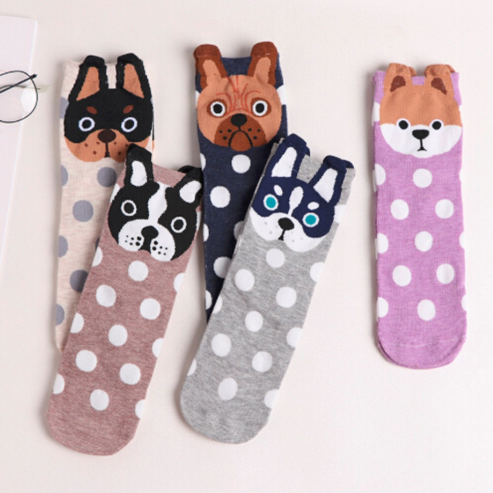 Autumn And Winter Women Socks Ear Cartoon Animal Series Cute Dog Kawaii Harajuku Style Funny Socks Gifts Meias