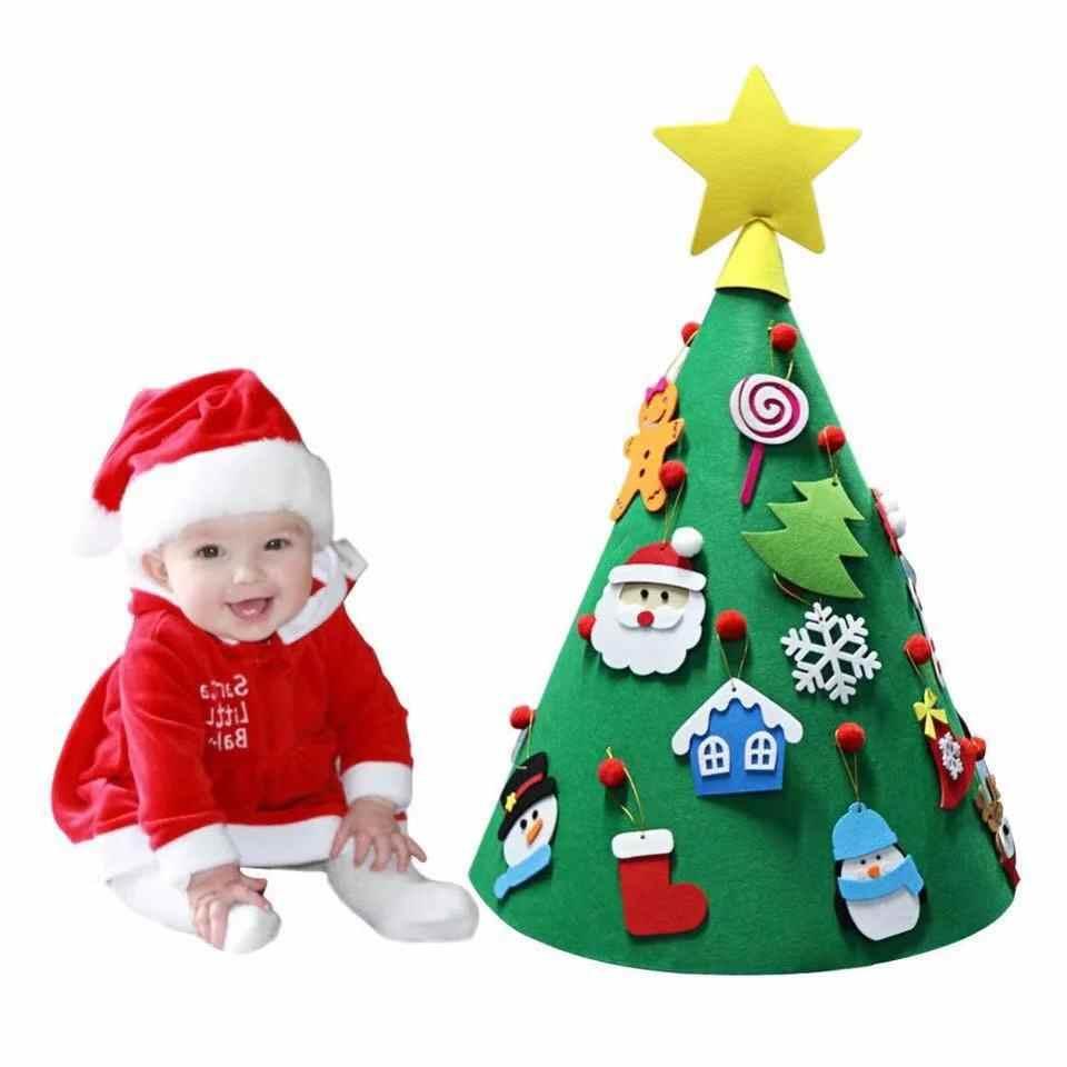 18ab222f59fee 3D DIY Войлок малыш Рождественская елка новый год Детские подарки игрушки  Искусственная елка Рождественское украшение дома