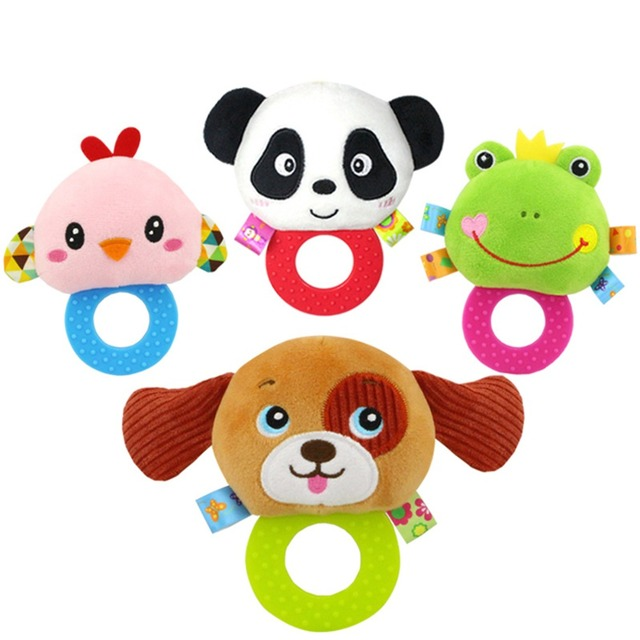 Baby Kids Plush Animal Rattle Toys Educational Musical Soft Baby Teether Bed Stoller Hanging Musical Raccoon Toys Baby Toy Gift 3