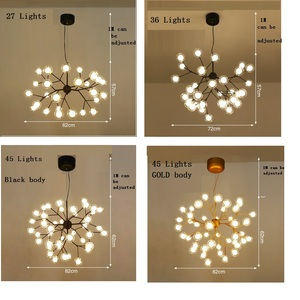 Image 3 - Новый современный светодиодный Люстра Светлячок светильник стильная ветка дерева люстра лампа Декоративная Потолочная люстра подвесной светодиодный светильник ing
