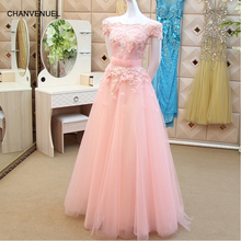 Купить с кэшбэком LS731-tm cheap pink bridesmaid dresses A-line girls pageant dresses off shoulder red party dress boat neck wedding guest dress