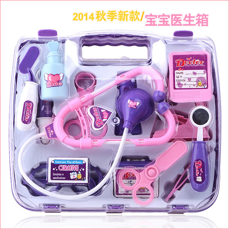 Hot Sale Children Kids Simulation Doctor Play Set Nurse Medicine Box Pretend Play Classic Toys For Girl Play House Toy