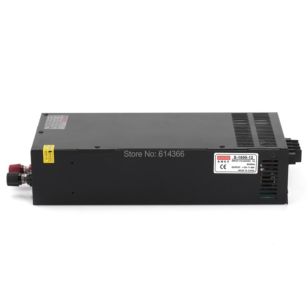 Industrial grade DC12V 80A power supply 12V adjustable power AC-DC High-Power PSU 1000W цены онлайн