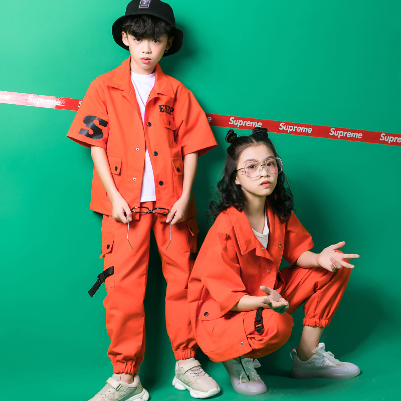 Children Hip-hop Suit Clothes Kids Boys Girls Jazz Hip Hop Street Dance Costumes Stage Competition Performance Outfit Clothing