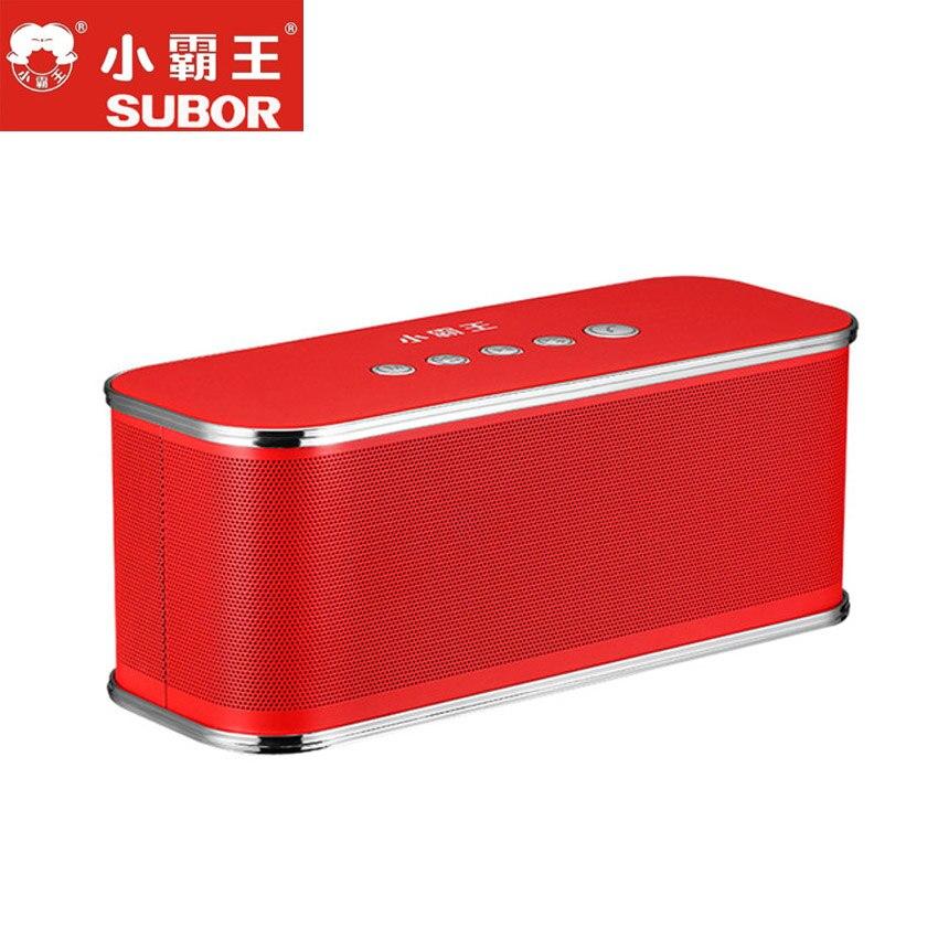 Subor Original D2 Bluetooth haut-parleur stéréo Hi-Fi étanche Portable extérieur sans fil grande colonne boîte haut-parleur Support TF carte FM