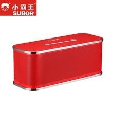 Subor Original D2 Bluetooth Högtalar Stereo Hi-Fi Vattentät Bärbar Utomhus Trådlös Stor Låda Box Högtalarstöd TF-kort FM
