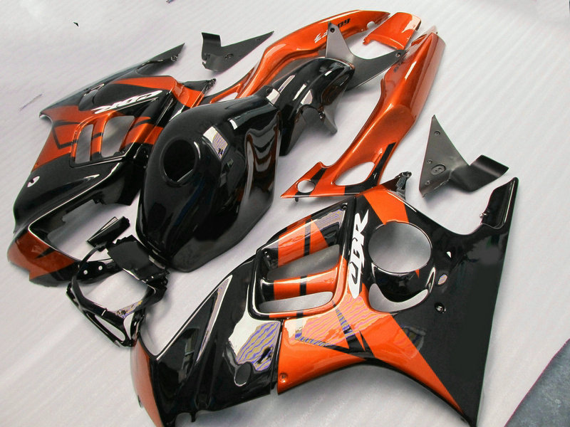 New hot moto parts Fairing kit for Honda CBR600 F3 97 98 burnt orange black fairings set CBR600 F3 1997 1998 FV25