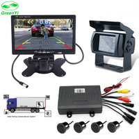 DC 24V Dual Core CPU Car Visible Video Parking Sensor Connect 7 Inch Car Monitor And
