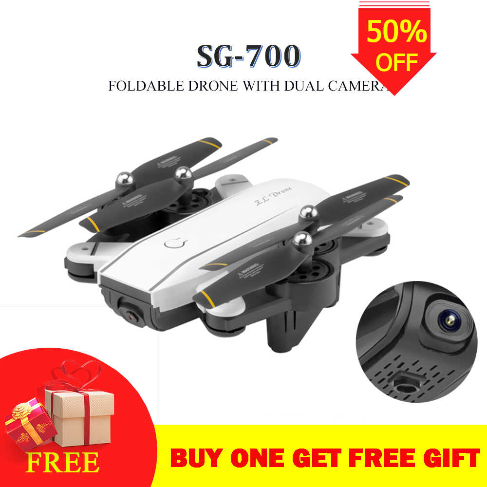 4K SG700S RC Drone Drone Helikopter Remote Control SG700 2.4G 4CH Wifi 1080 P/720 P Optik kas Dual HD Kamera Quadcopter Drons