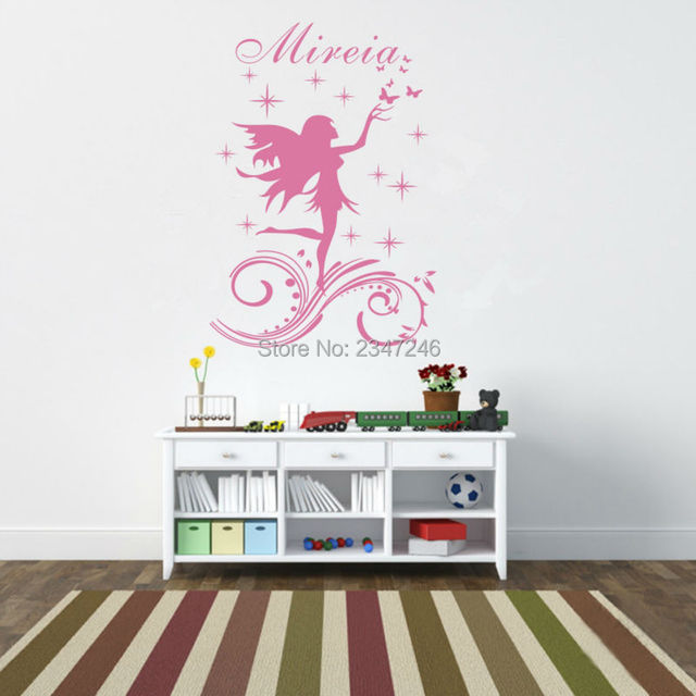 Wall Decors aliexpress : buy personalised girl name peri wall stickers