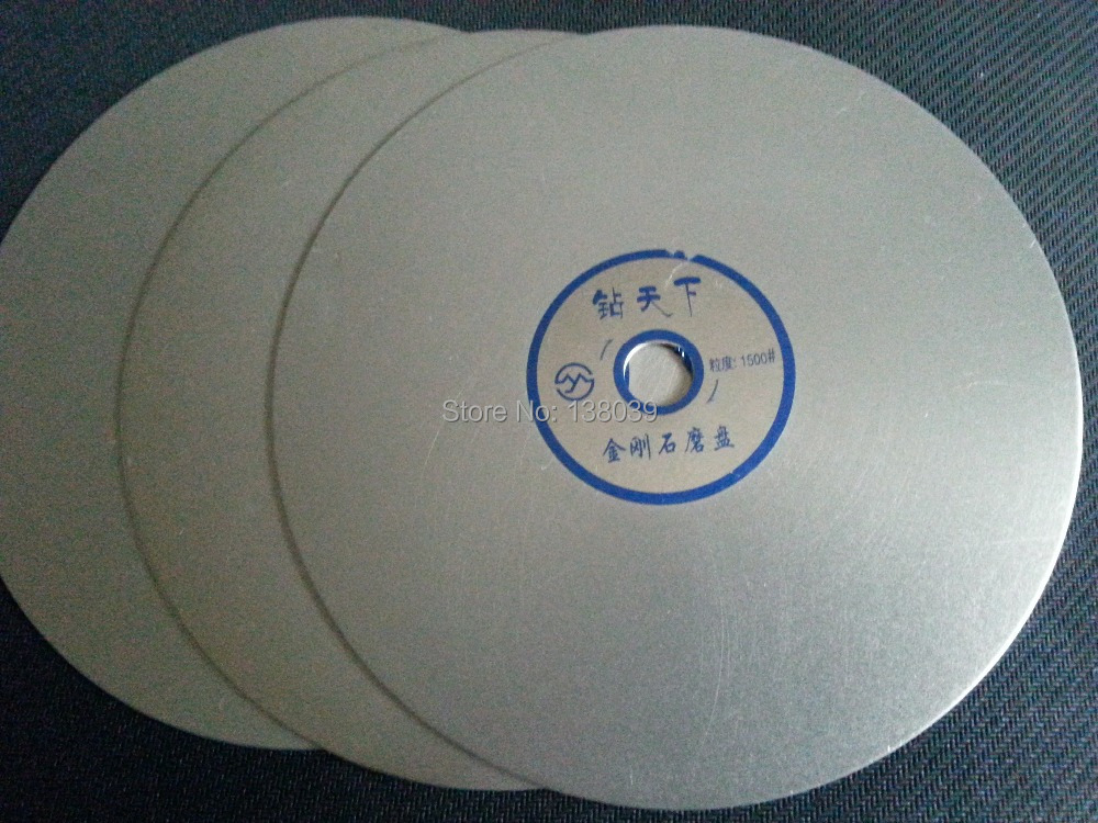 6 Inch Diamond Flat Grinding Discs For Lapidary , Polishing Pads Grit #1500
