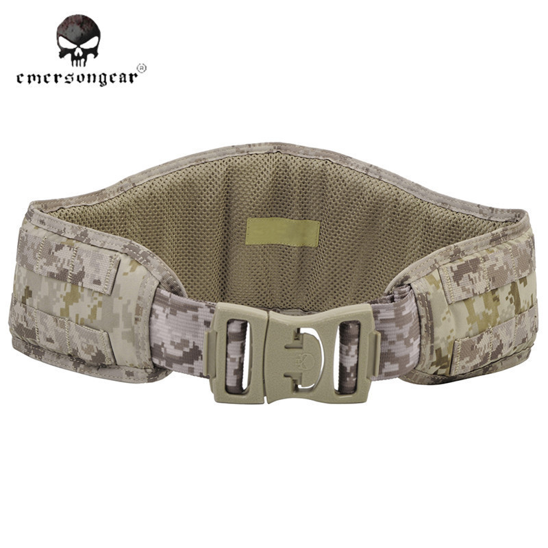 ФОТО EMERSON Tactical Padded Molle Camouflage Waist Belt Men Hunting Accessories Outdoor Sport Combat Battle 1000D Nylon Man Belt