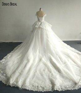 Image 2 - Бальное платье с бисером, кружевные свадебные платья с вырезом сердечком, без рукавов, длиной до пола, красочные свадебные платья 2017