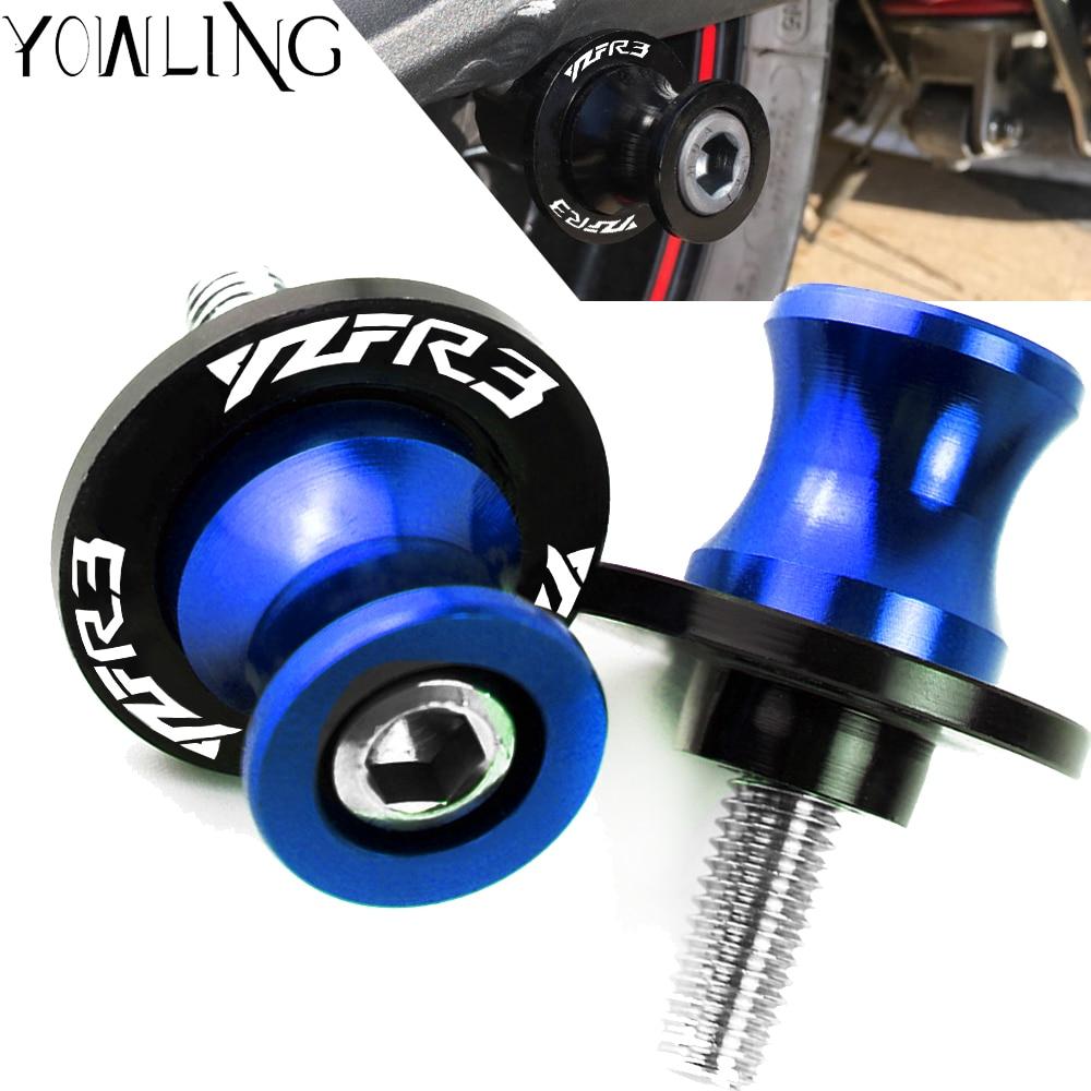 6MM Motorcycle Accessories Swingarm Spools Slider Stand Screws For YAMAHA R3 YZF R3 YZF-R3 MT-03 YZFR3 2015 2016 2017 2018 2019