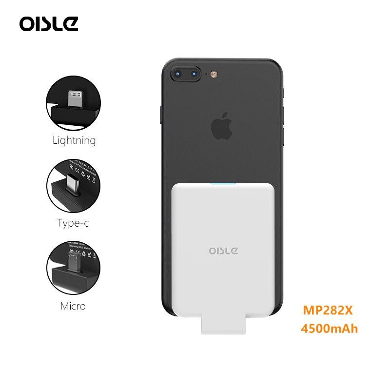 Qi Sans Fil Récepteur Puissance Banque Pour iPhone 7/Samsung Galaxy S5/Xiaomi Redmi Note 5 Batterie Chargeur Cas externe Batterie Pack