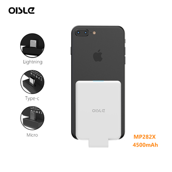 oisle Qi Wireless fast Power Bank For iPhone 7/Samsung Galaxy S5 /Xiaomi Redmi Note 5 Battery Charger Case External Battery Pack
