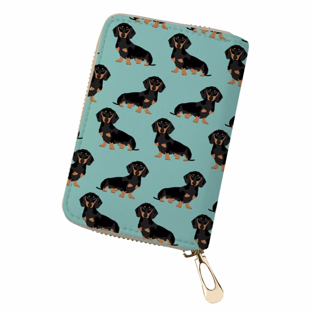 Noisydesigns retro fresh personality funny dog sac Portable PU Leather Protector Organizer Card Wallet monedero pokemon kaarten ...