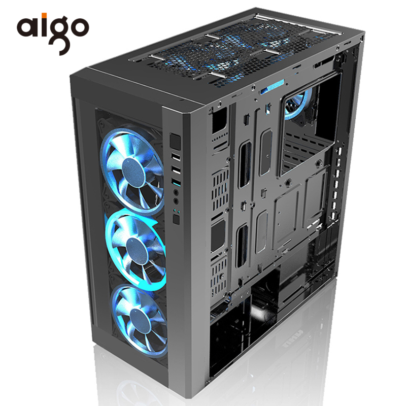Aigo PC Computer Case Chassis 404*205*455mm Atx Computer Case USB 3.0 I/O Port Support Water Cooler Gabinete Computador Cases