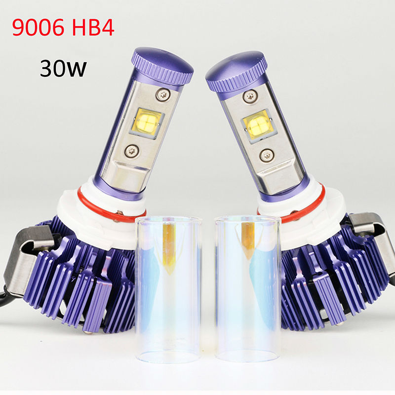 9006 LED Headlight HB4 Pair Plug&Play Car Conversion Kit with Cree chip High Low Beam Auto Headlamp 30W 6000K 7200LM 12V one set 9004 cree led headlight conversion kit high low beam hb2 auto car moto car styling led headlamp driving lamp bulbs white