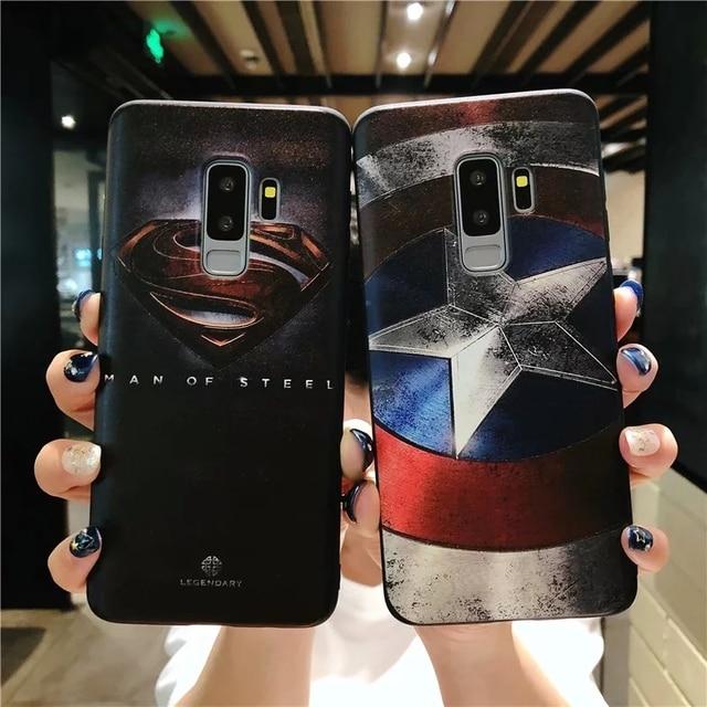 Vingadores Super Herói Capitão América Superman Matte Caixa Do Telefone Para Xiao mi mi 5X6 Coque X 8 Macio tampa traseira