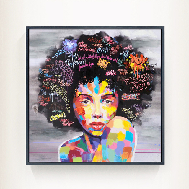 Souvent Nouveau Graffti Rue Mur Art Abstrait Moderne Africain Femmes  DP86