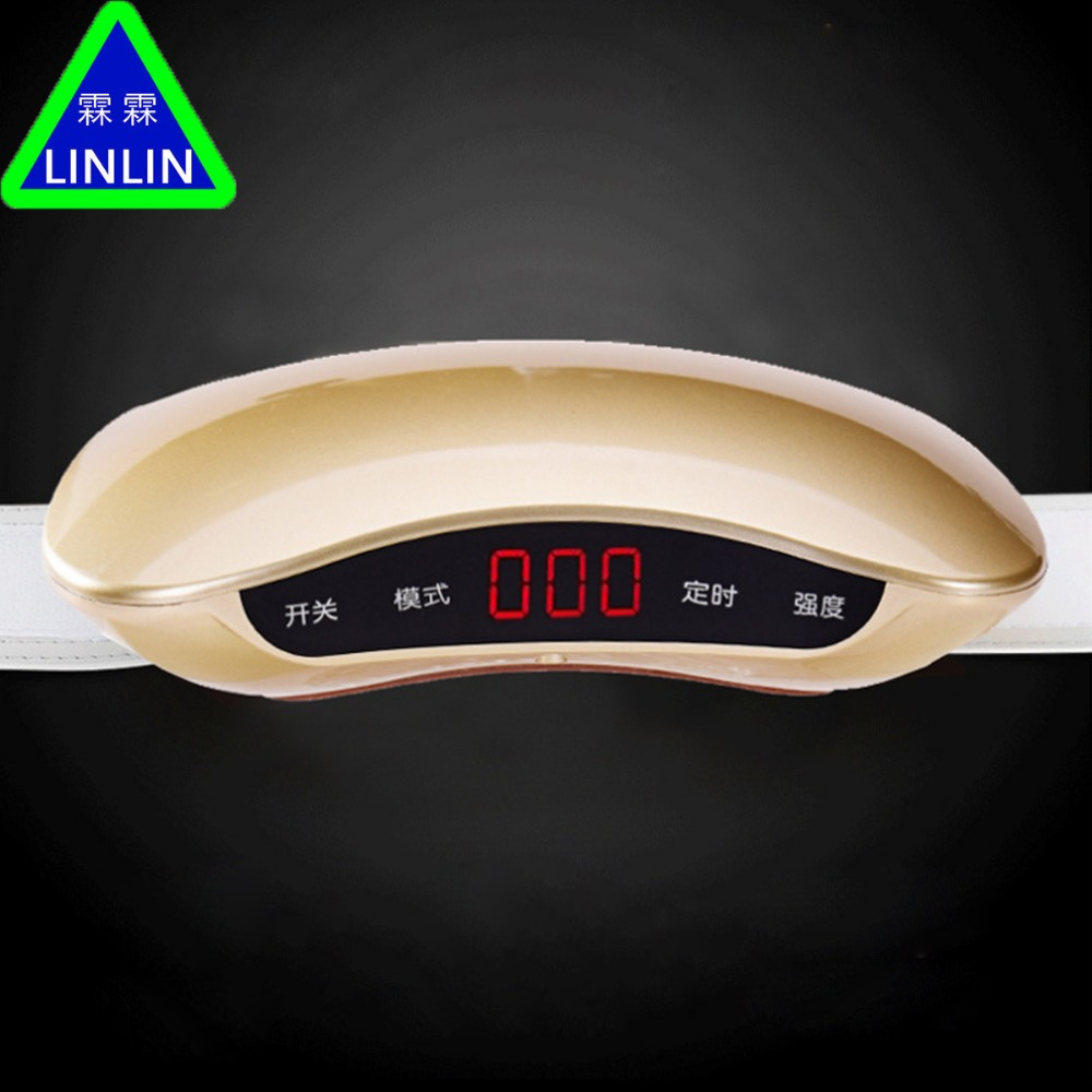 Rechargeable women waist slimming belt belly Electric back shoulder buttock vibration anti cellulite massager Fat burner