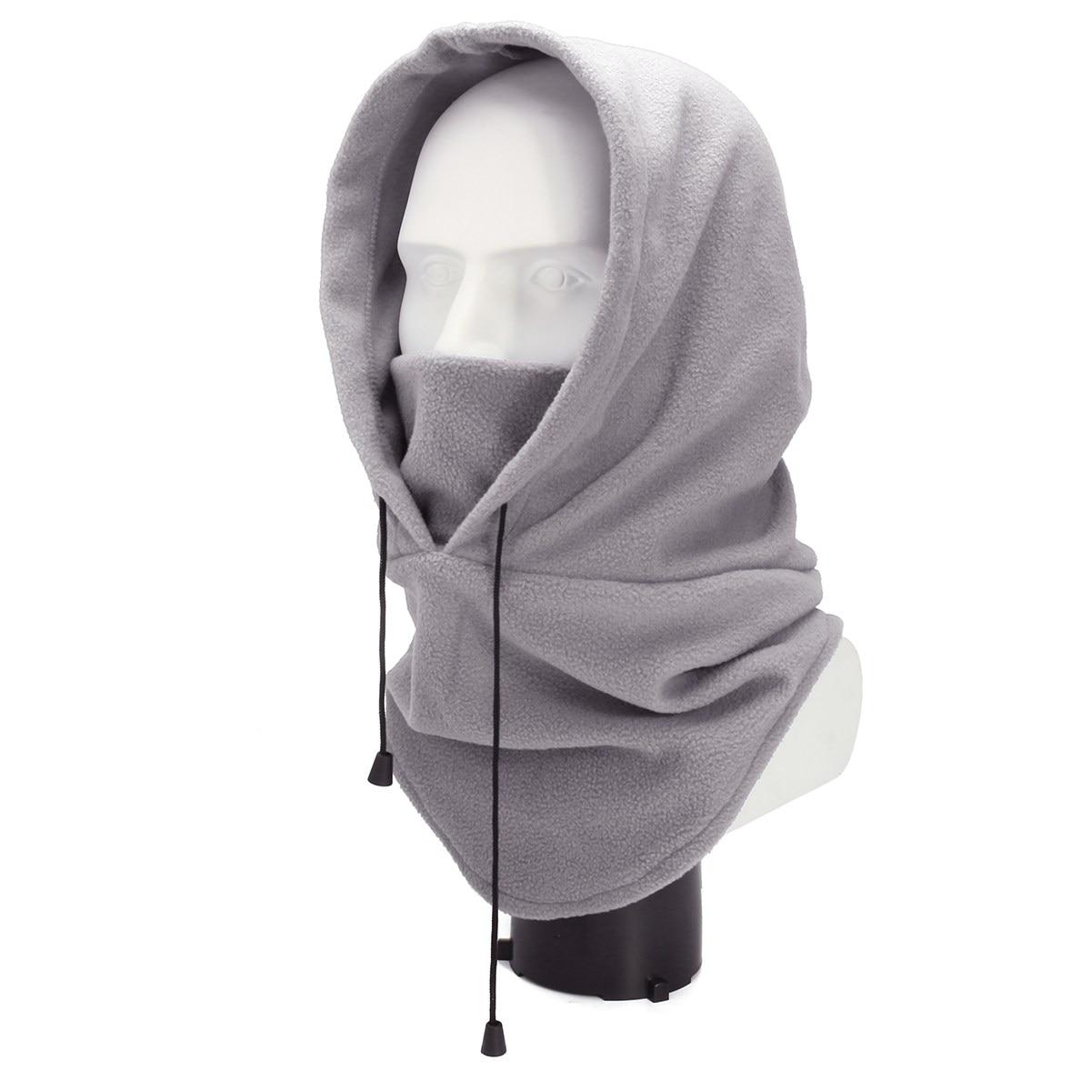 Multi Funzione Con Cappuccio Sciarpa Beanie Cappello, delle donne Degli Uomini di Autunno Inverno Caldo Velluto Ninja Viso Maschera Antivento Tattico Balaclava Cappello Da Sci