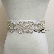 Best Select Wedding Bridal Crystal Sash  Rhinestone Applique Belt & Bridesmaid Belt Can Iorn On It By Yourself  RA019