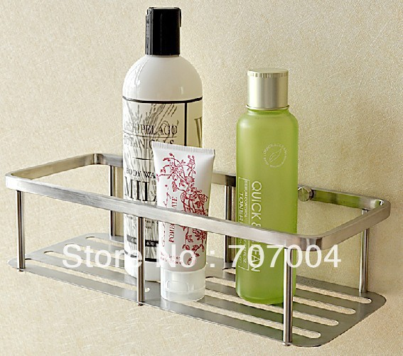 Free Shipping Bathroom Wall Mounted Caddy Holder Storage Shelf Stainless Steel