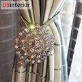 DSinterior 1 pc Magnética Cortina Empate Costas cristal Flor Decorarion Holdbacks Cortina Da Janela Retrátil Magnético Clipes Para Casa