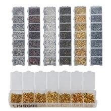 Соединительные кольца lacoogh 1450 шт/компл разные цвета размеры