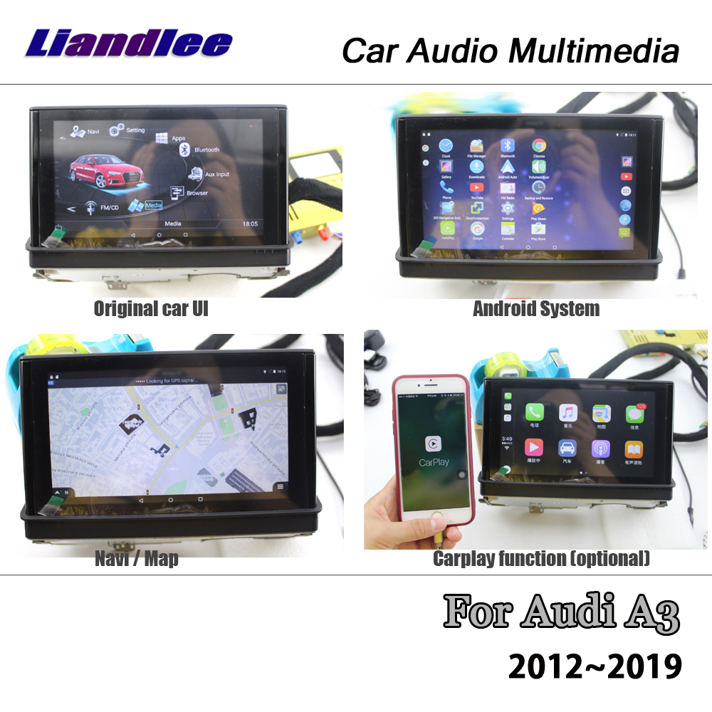 Liandlee 7 Inch Android 6 0 UP For Audi A3 2012~2019 Stereo Radio Video BT  Wifi Carplay Map GPS Nav Navi Navigation Multimedia