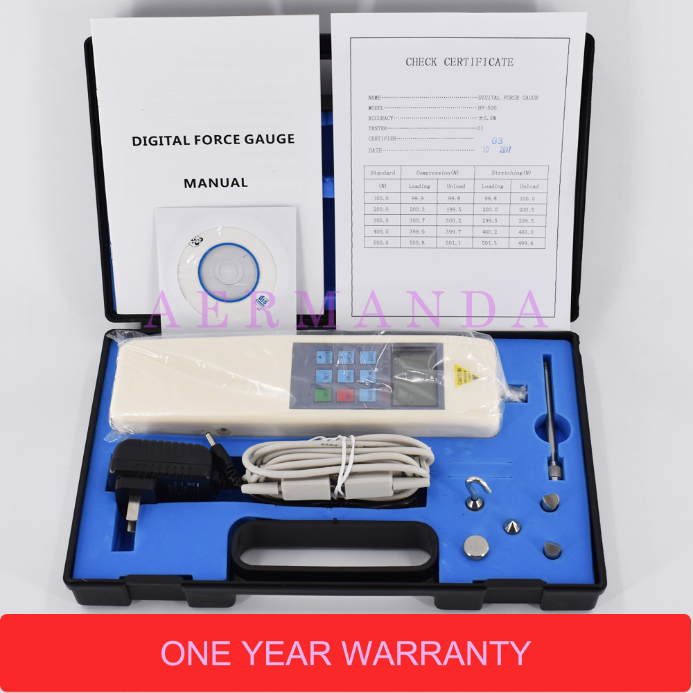 Digital Force Gauge Push Pull Force Meter Dynamometer 2-500N Force Gage Tools And Equipment HF-2 HF-5 HF-10 HF-20 HF-30 цены