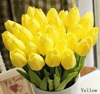 2015 20pcsTulip Artificial Flower Real Touch Flowers Home Decoration Wedding PU Artificial Bouquet Decorative Flowers