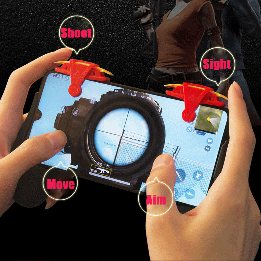 Mobile Game Controller Phone Mobile Gaming Trigger Fire Button Handle For L1R1 Shooter Controller Gamer Gaming Gamepad Player