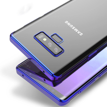 Note 9 Case for Samsung Galaxy Note 9 Case 6.4'' Transparent Soft Back Plating TPU Cell Cover for Samsung Galaxy Note9 Caphina protective tpu back case for samsung galaxy note 2 n7100 yellow