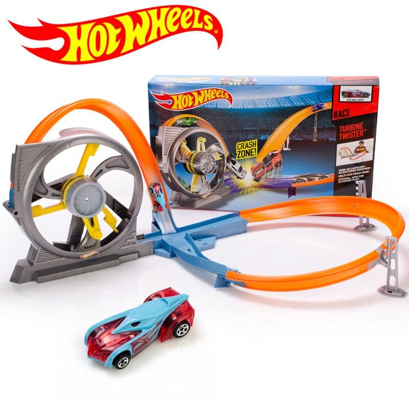 Hot Wheels Roundabout pista de juguete para niños coches de juguete de plástico Mini ruedas de Metal máquinas de coches para niños juguete educativo X9285-in Troquelado y vehículos de juguete from Juguetes y pasatiempos    1