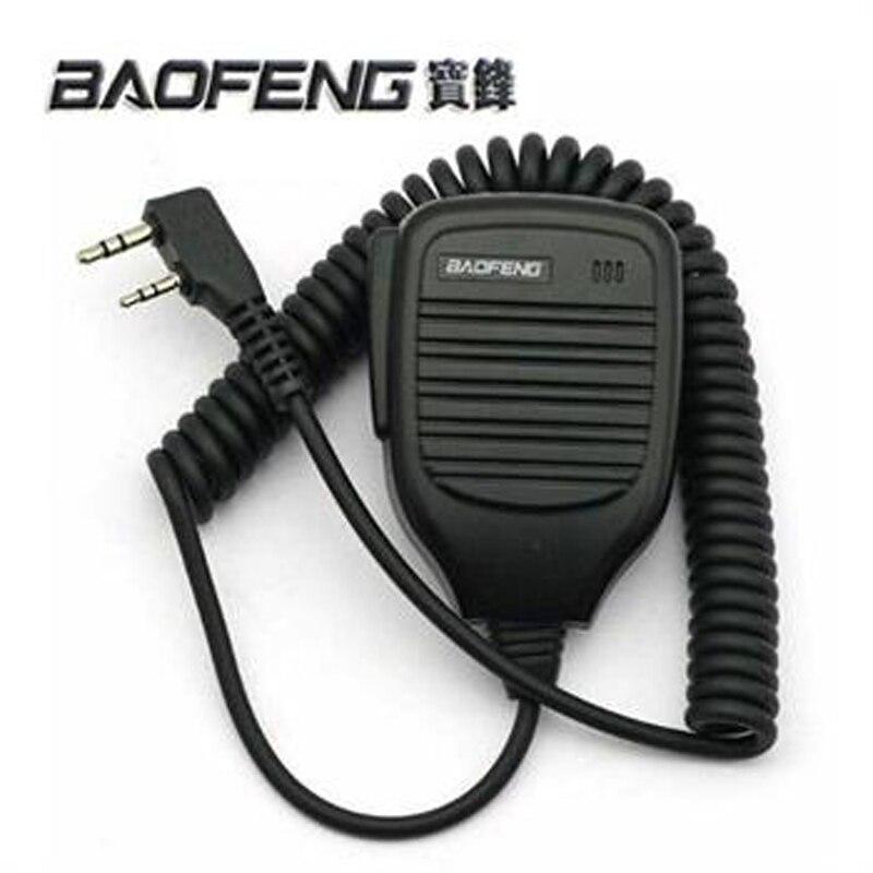 2 pcs Microphone Talkie Walkie baofeng Accessoires 2 Broches BF-S112 à Deux Voies de Poche Talkie Walkie Radio Haut-Parleur pour uv-5r bf-888s