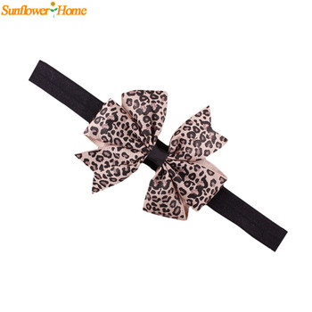 Newly Design Lovely Sweet Children's Elastic Force Hair Band Princess Baby Girl Round Dot Bowknot Leopard Hairband June9 Sunward