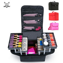 Case Beauty Cosmetic-Bag Makeup-Organizer Clapboard Salon Nail-Art-Tool Tattoos Large-Capacity