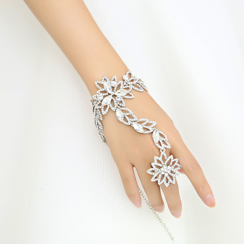 Fashion Bridal Bracelet Rhinestone Hand Chain Summer Style Bracelets     Fashion Bridal Bracelet Rhinestone Hand Chain Summer Style Bracelets For  Women Wedding Dress Accessories Prom Shoulder Jewelry in Charm Bracelets  from