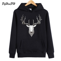 New Arrival Hoodies Women Fashion Deer Print Sweatshirt Autumn Winter Woman Fleece Hoodie Ladies Long Sleeve