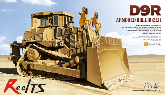 RealTS Meng model SS-002 1/35 D9R ARMORED BULLDOZER plastic model kit meng ss 006 m3a3 bradley busk iii splicing model cavalry armored infantry fighting vehicles