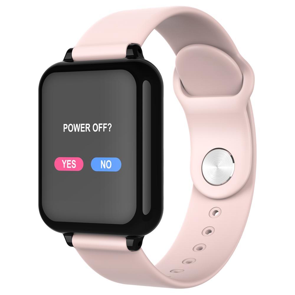B57 smart watch wasserdicht heart rate monitor blutdruck mehrere sport modus smartwatch frauen tragbare uhr männer smart uhr
