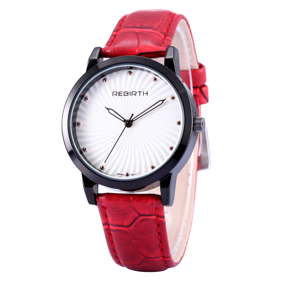 2017 REBIRTH Brand Quartz Watch Ladies Crystal Diamond Women Watches Leather Dress Wristwatch Gift Relogio Feminino Montre
