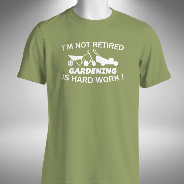 Gardening Retirement Mens T Shirt Funny Retired Gift Horticulture Flower