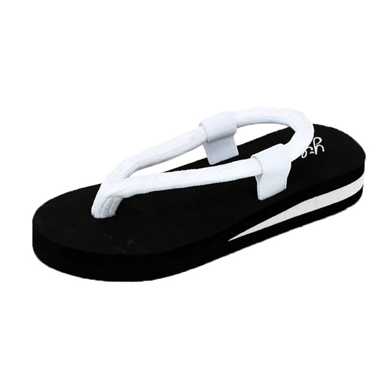 все цены на New Women Flip-Flop Sandals Summer Shoes Slippers beach Shoes Home Slippers Women Slip on Flip Flops Flats Women Slip on Flip Fl онлайн