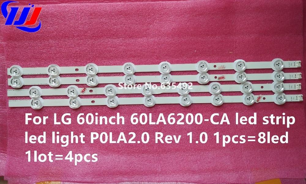 Светодиодная подсветка экрана для LG 60 дюймов 60LA6200-CA P0LA2.0 Rev 1,0 1 шт. = 8led