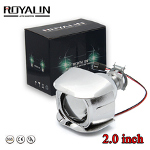 ROYALIN 1PCS Halogen Lens H1 2.0 inch Bi Xenon Projector Head Light LHD Mini Glass for H4 H7 Motorcycle Lamps DIY